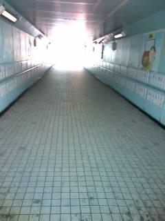 地下道なう